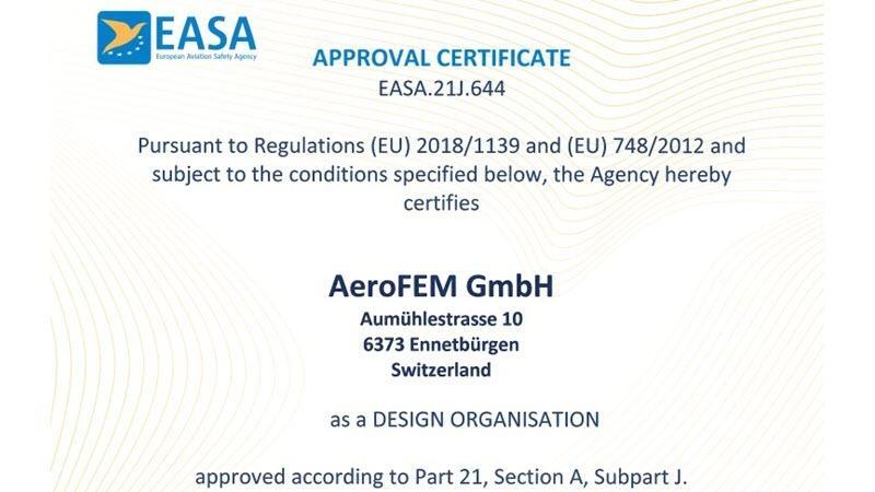 DOA EASA.21J.644 Zulassung